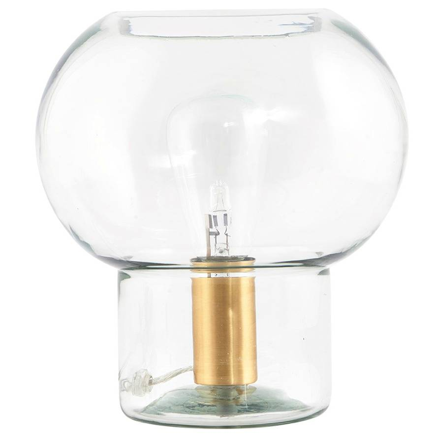 Lampe Gold Housedoctor Mush Lampe Gold Glas Messing Ø23x26cm