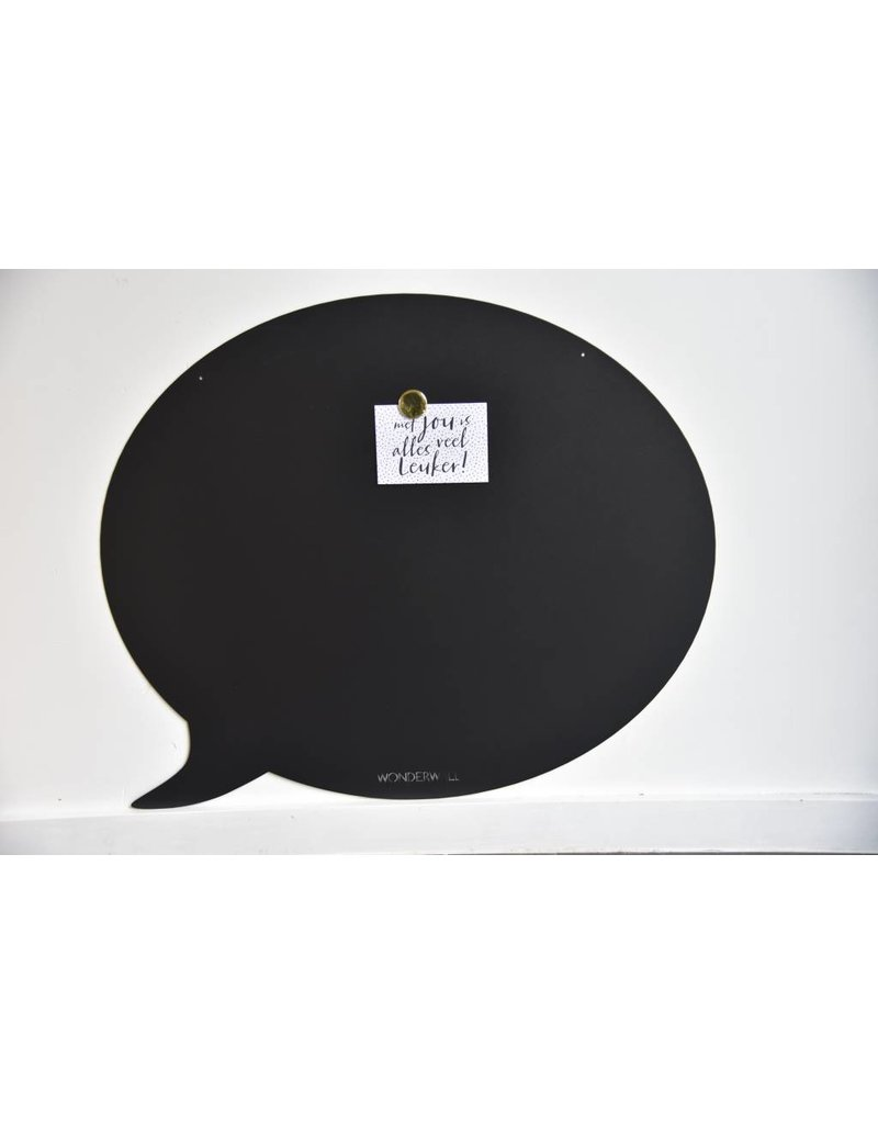Magneetbord Zwart Wonderwall Magnetic Board Speech Bubble Black95 X 80 Cm Special Collection