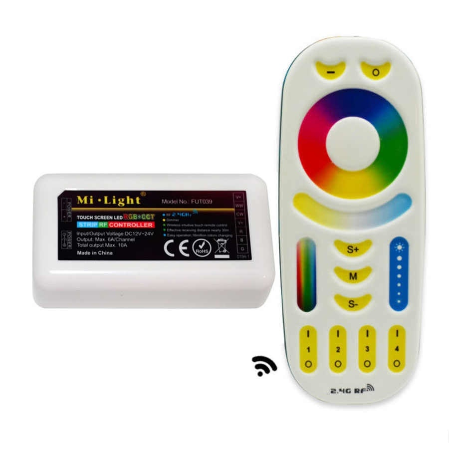 Controller Led Rgb Rgb Cct Controller With 4 Zone Remote Control