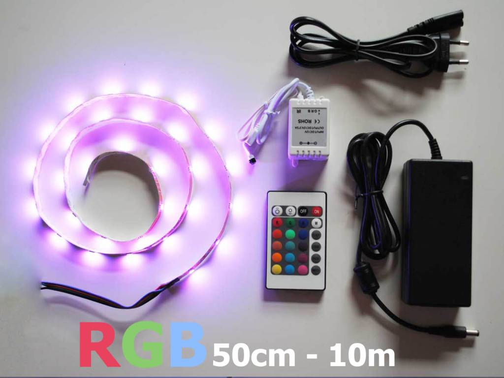 Ledstrip Kopen Led Strip Set Rgb Meerkleuren 30 Led M