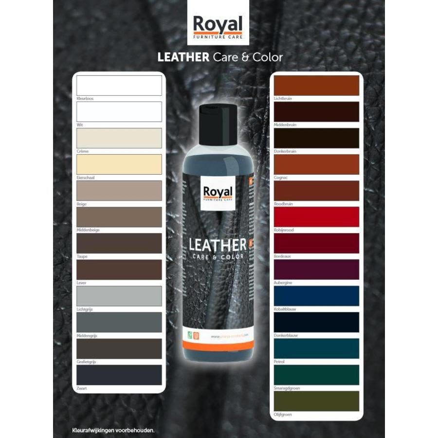 Verf Van Leer Verwijderen Royal Furniture Care Leather Care Color 250ml Leverbaar In 25 Kleuren