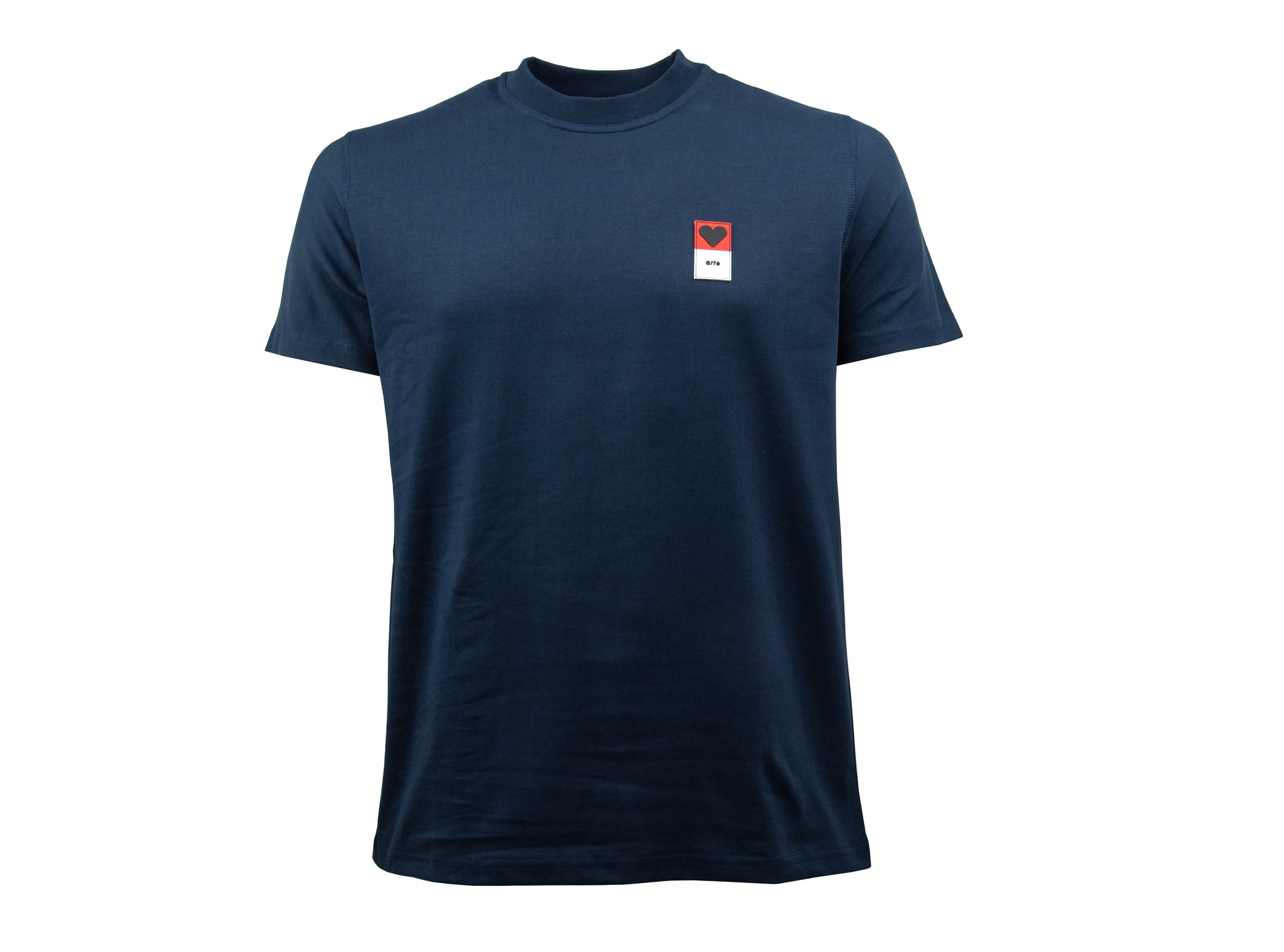 Arte Antwerp T Shirt Arte T Shirt Troy Heart Patch Navy Ss19 026 Bruut Online Shop