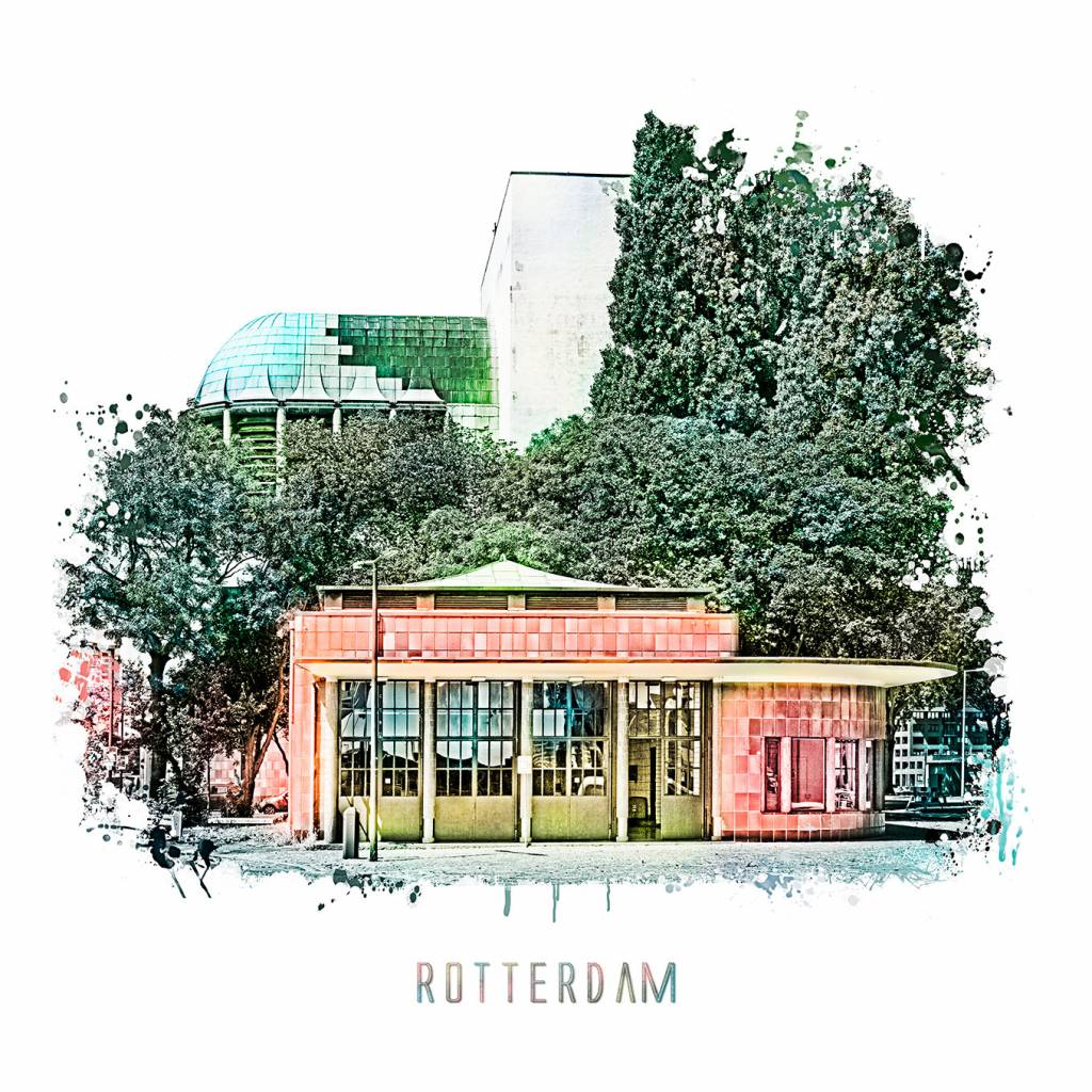 Poster 30x30 Rotterdam Collage 2 Vintage Poster 30x30 Kkec