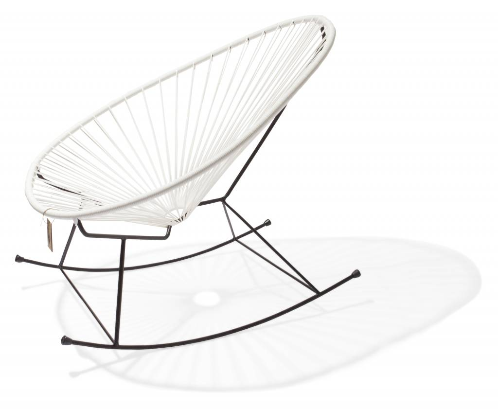 Mexico Chair Schaukelstuhl Acapulco Rocking Chair White