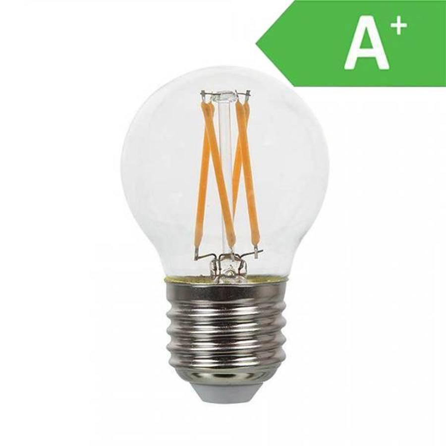 E27 Lampenfassung V Tac Led Filament Bulb G45 With E27 Fitting 4 Watt 350lm Extra Warm White 2700k