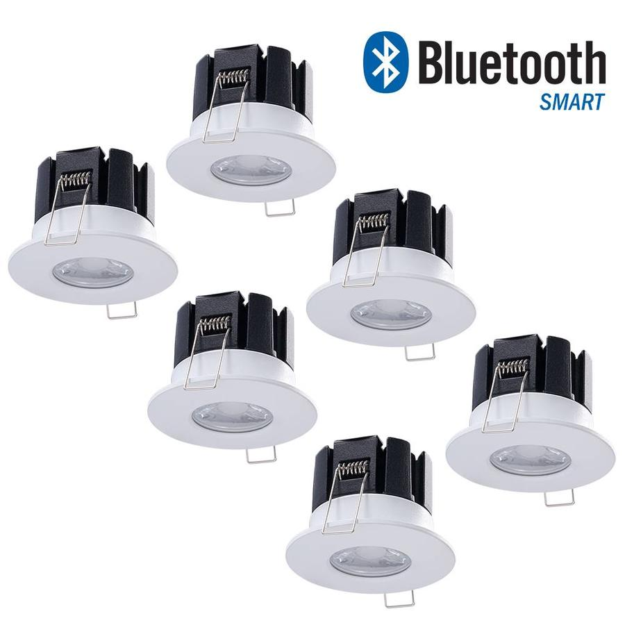 Led Einbauleuchten Bad Set Intoled Complete Set 6 Stuks Dimbare Bluetooth Led Inbouwspot Stockholm 10 Watt Ip65 5 Jaar Garantie