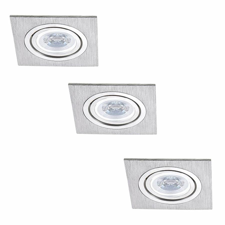 Dimmbare Led Spots Intoled Set Of 3 Dimmable Led Downlights Marbella 4 Watt With Philips Spot Tiltable