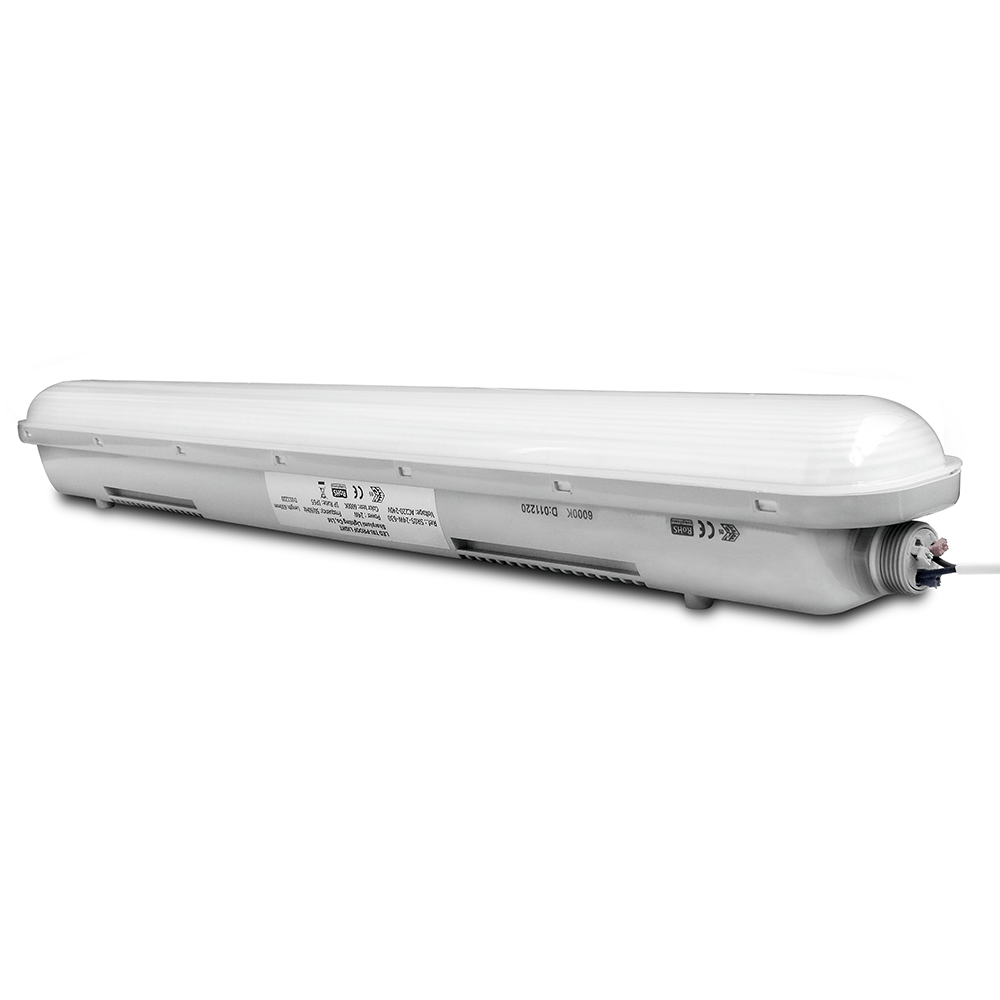 éclairage Led Aquarium 120 Cm Ip65 Led Luminaire 150 Cm 50w 6000lm 6000k With Osram Driver Interlinkable And 3 Year Warranty