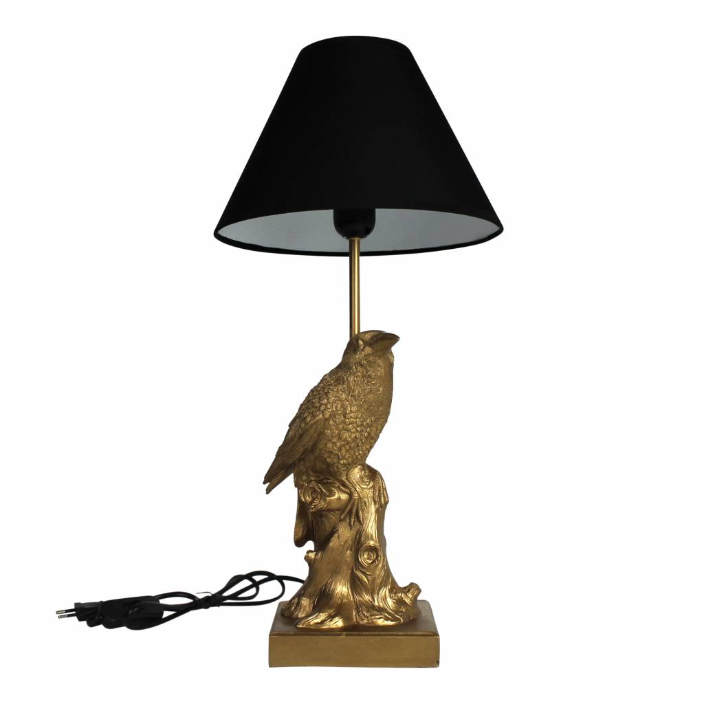 Lampen Store Gold Bird Lamp In The Shape Of A Crow