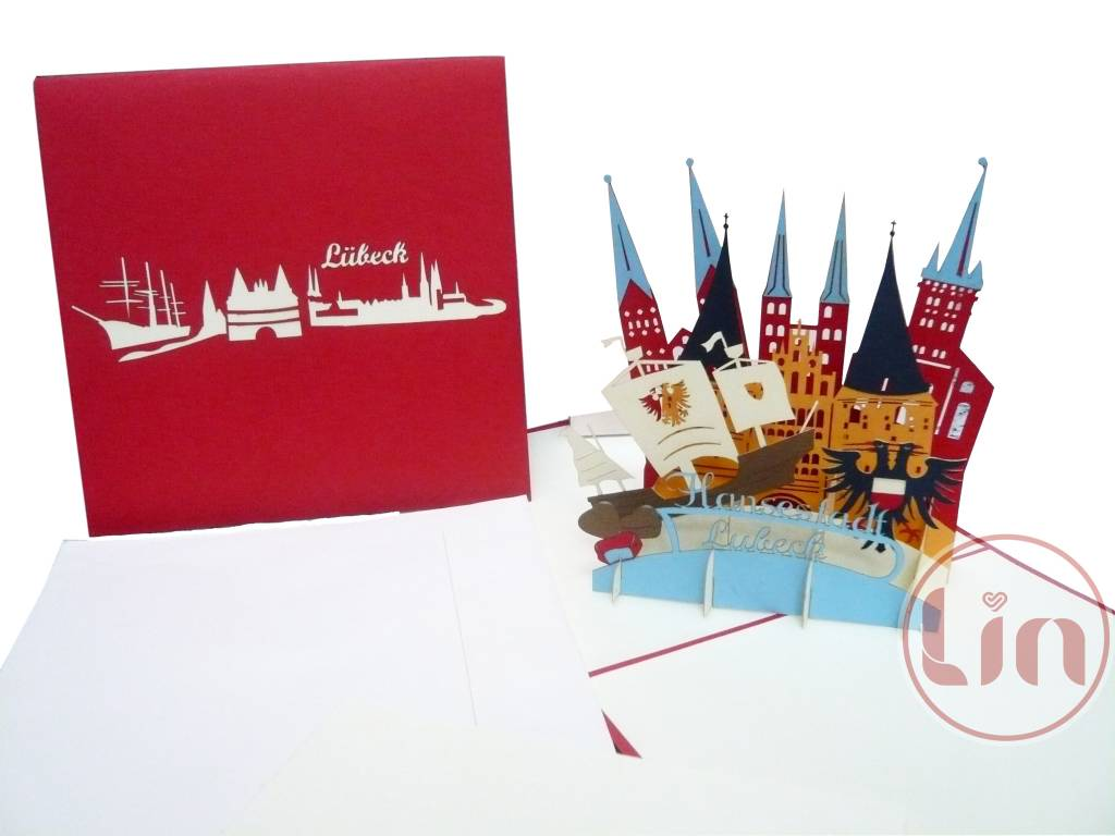 Lübeck Card Pop Up Greeting Card Luebeck City