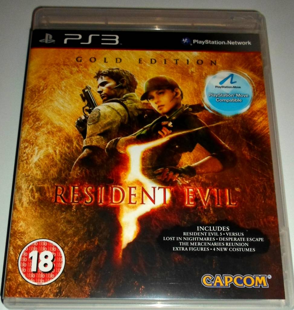 Edition For Ps3 Resident Evil 5 Gold Edition For Playstation 3 Ps3 With Box
