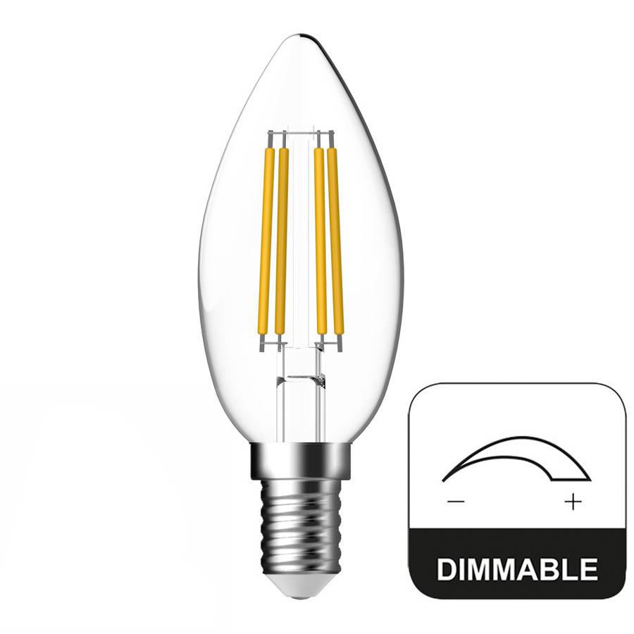 Dimbaar Led Verlichting E14 Led Lamp Dimbaar Kaars Energetic 4 8w Vervangt 40w