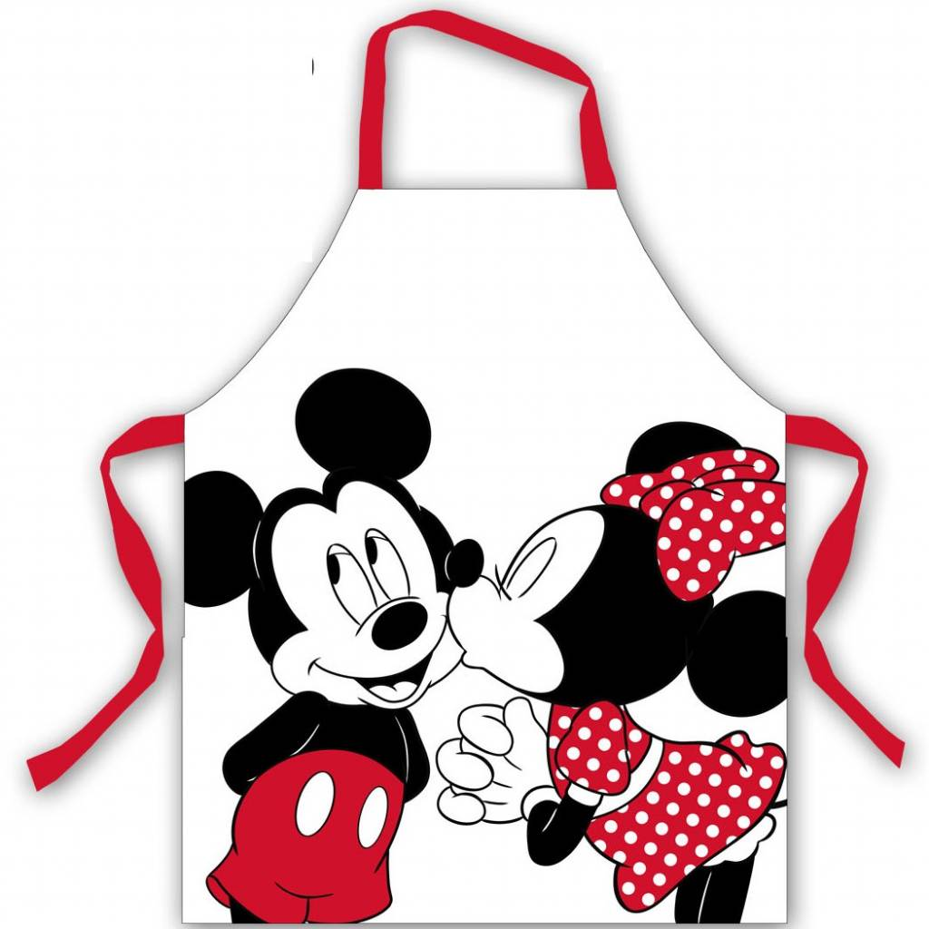 Tablier De Cuisine Disney Minnie Mouse Keukenschort 77x72cm