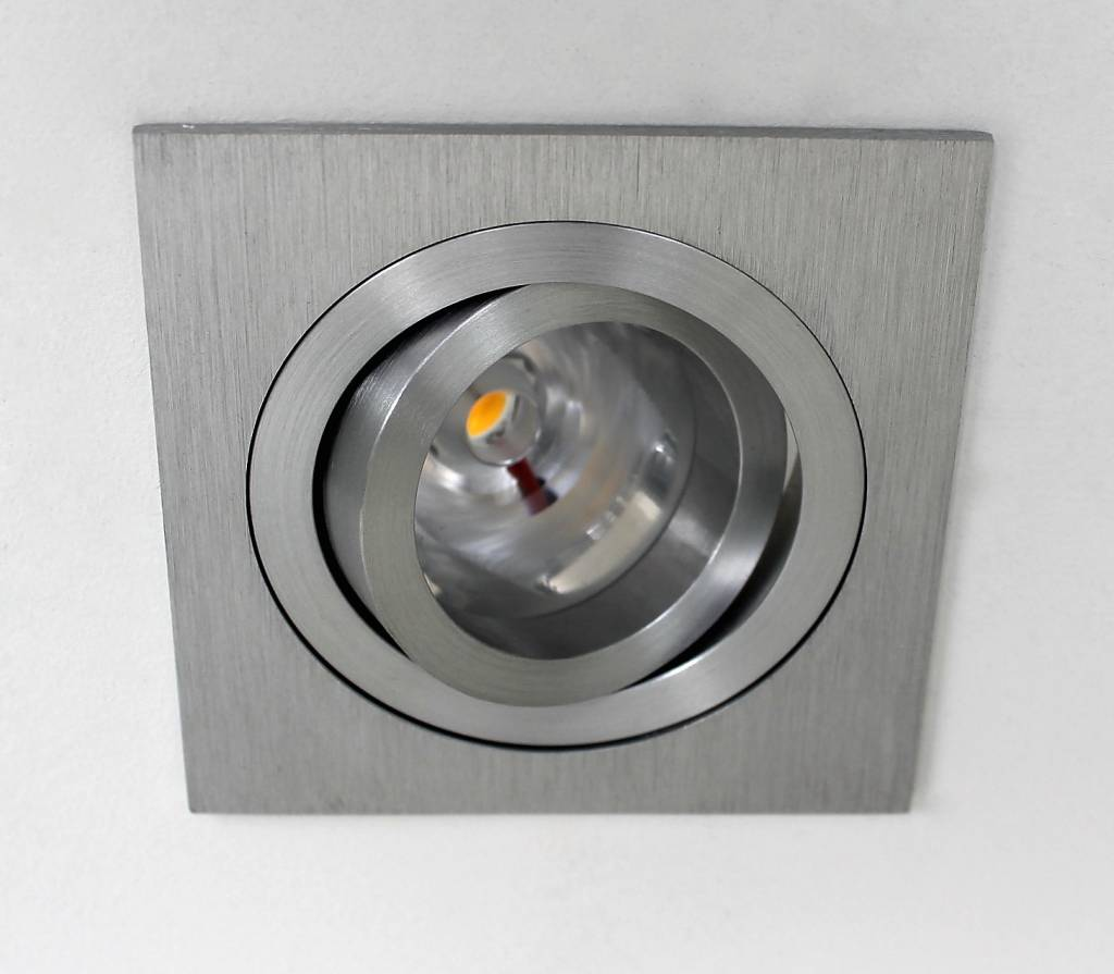 Badkamer Spots Zone 1 Led Square Downlight 9w Ip65 2700k Dimmable