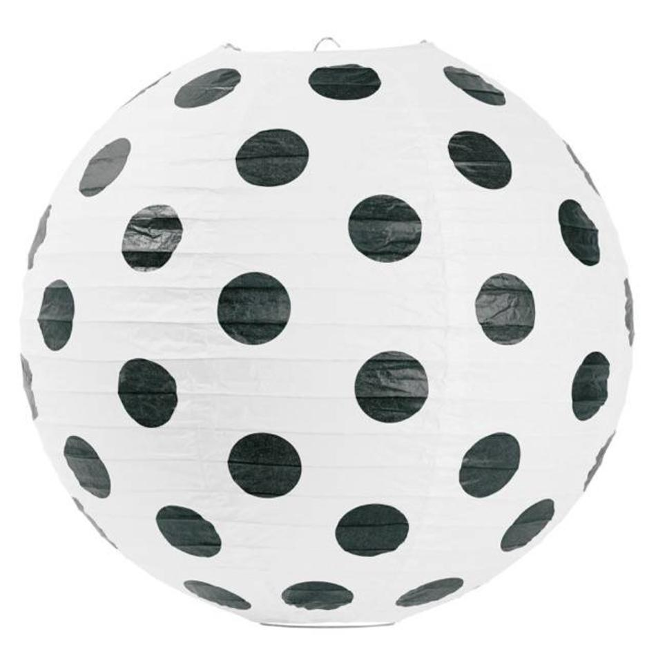 Lamp Rijstpapier Rice Paper Lamp Big Black Dots 41 Cm