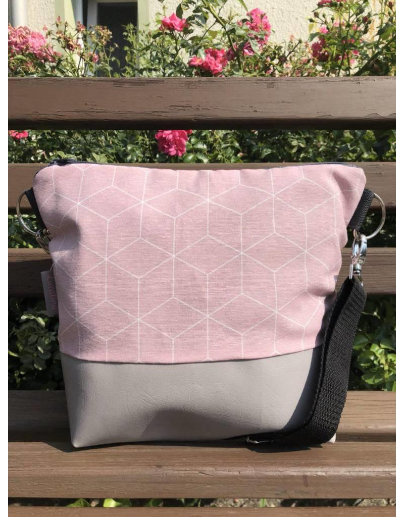 Rosa Tasche Canvas Big Canvas Tasche Geo Rosa