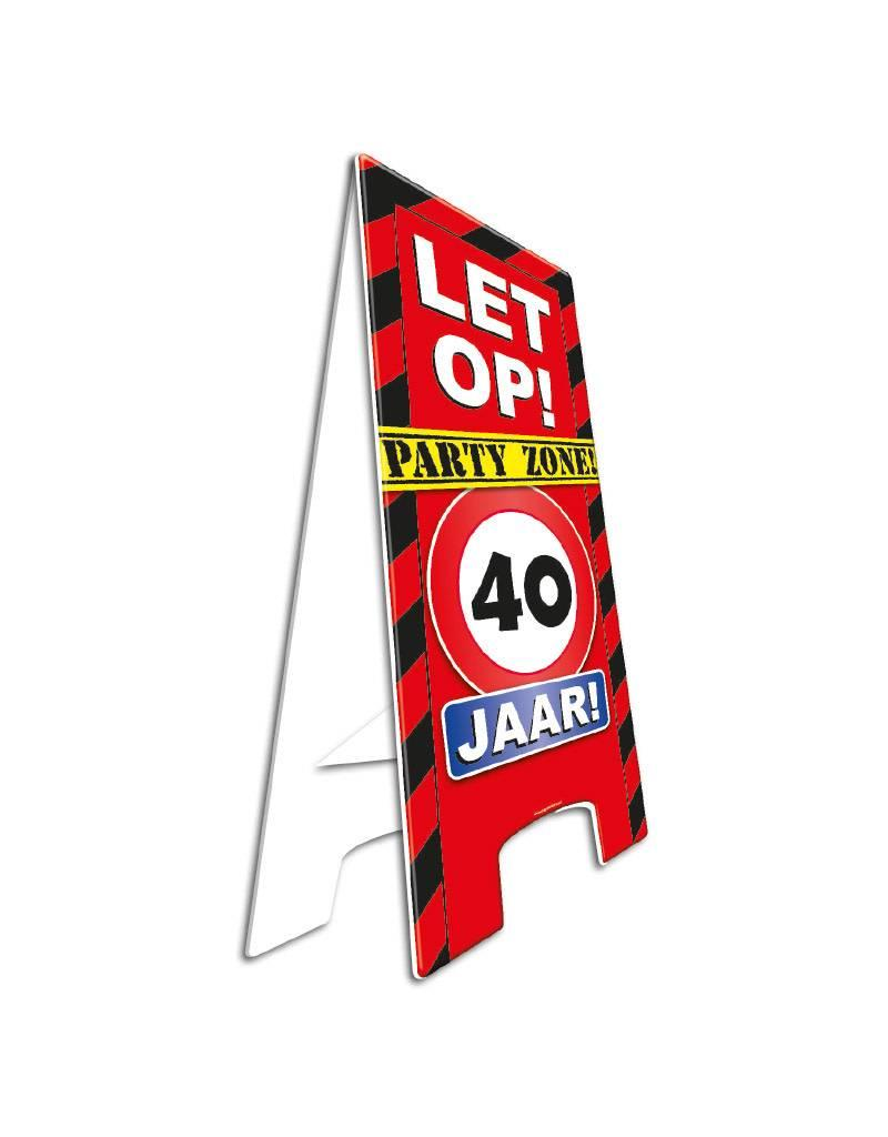 Themafeest 40 Jaar Warning Sign 40 Jaar