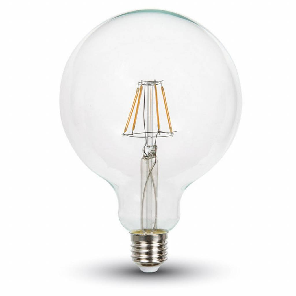Dimbaar Led Verlichting Dimbare Led Lamp 4w Met Filament 2700k Xl Globe Helder Glas
