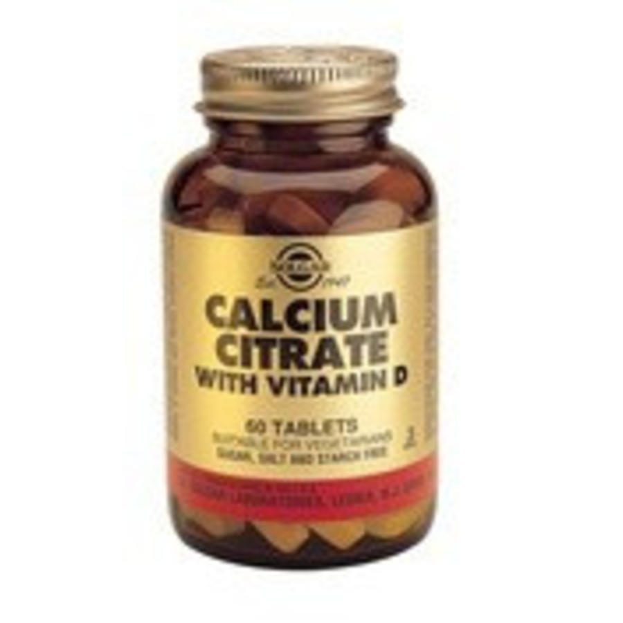 Calcium Tabletten Solgar Calcium Citrate Met Vitamine D 3 60 Tabletten