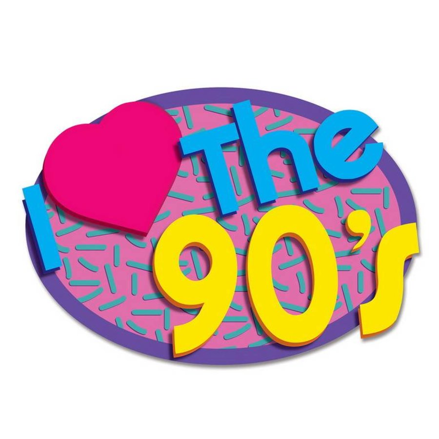 Themafeest 40 Jaar Wanddecoratie I Love The 90s
