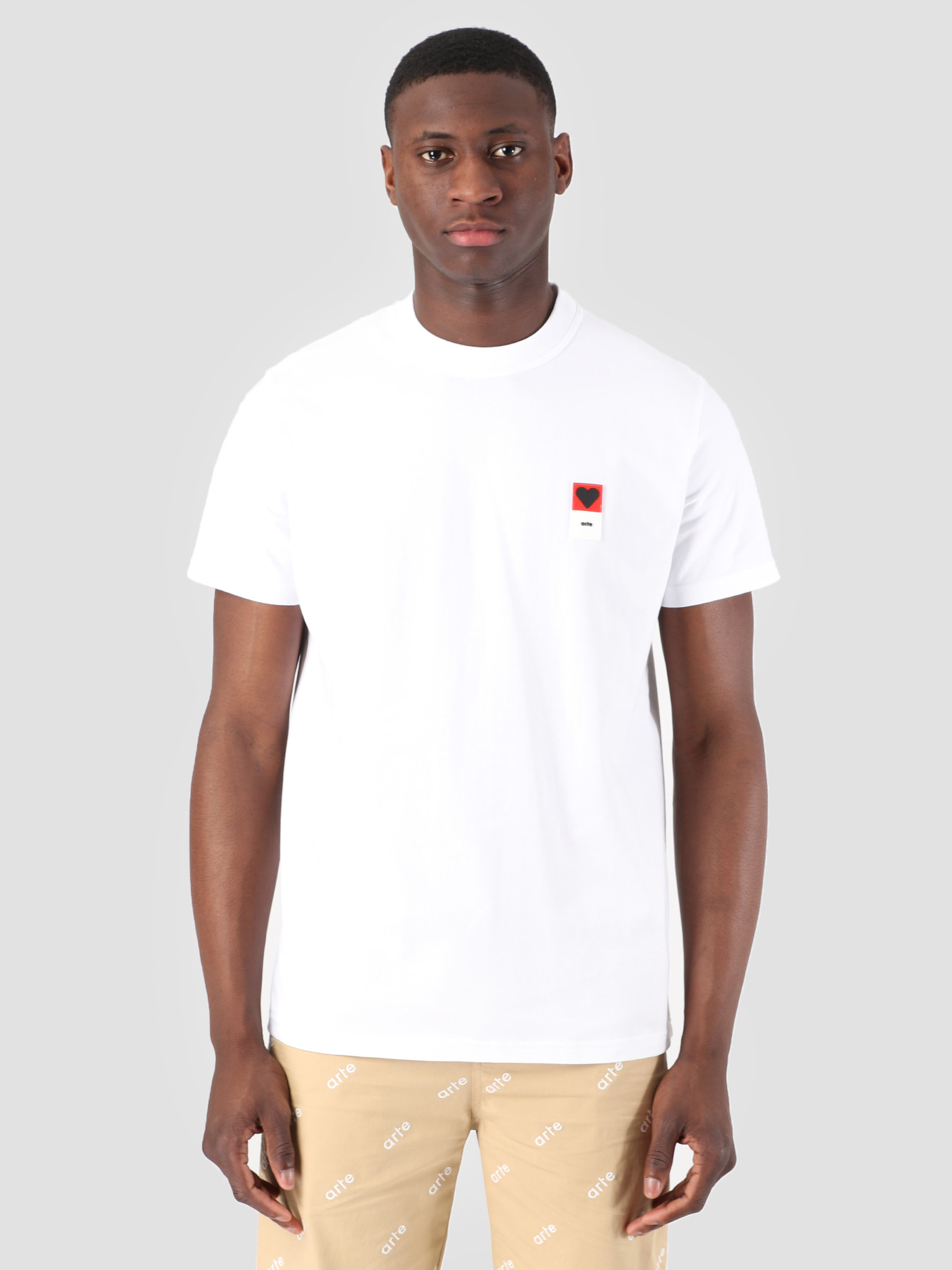 Arte Antwerp T Shirt Arte Antwerp Troy Heart Patch White T Shirt 3757093
