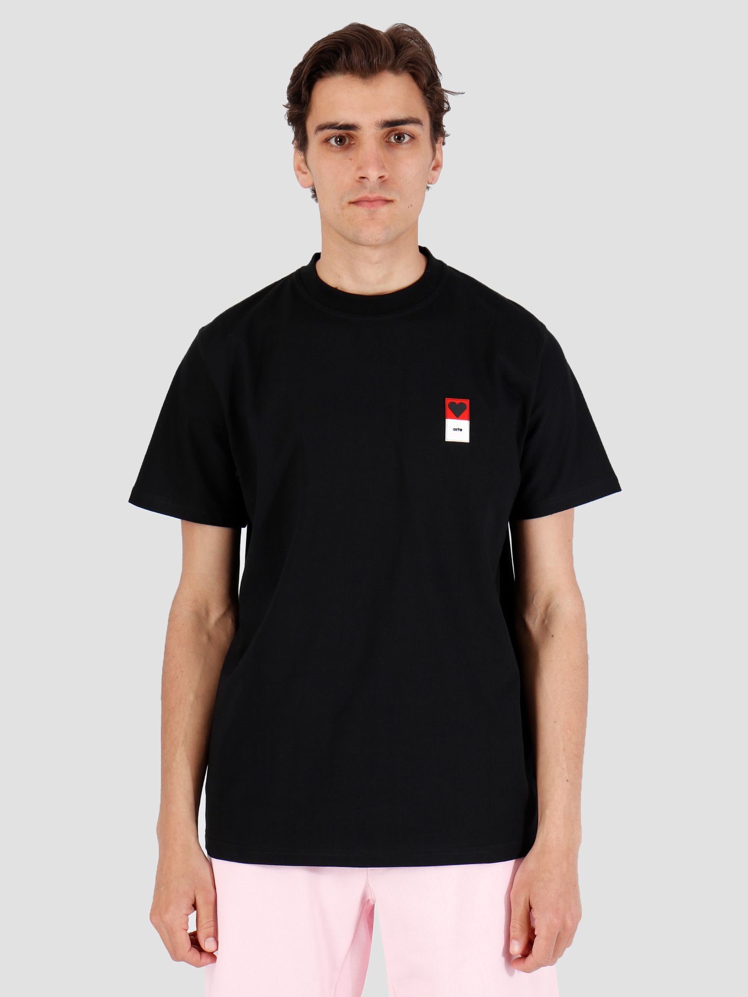 Arte Antwerp T Shirt Arte Antwerp Troy Heart Patch Black T Shirt 3757092