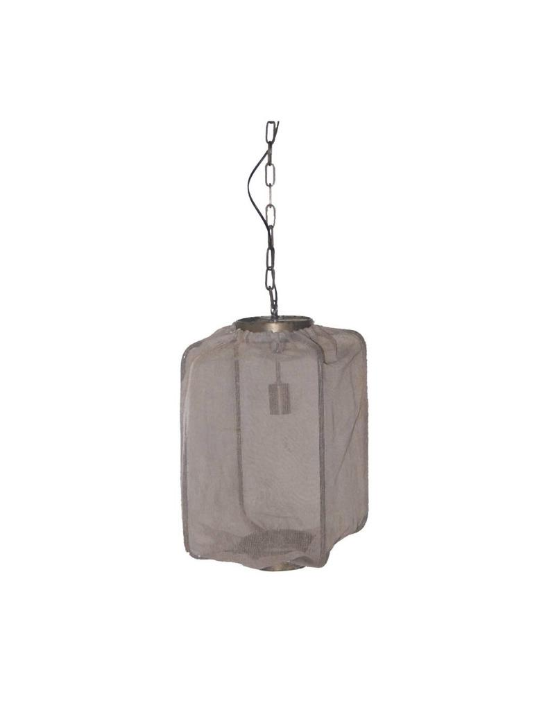 Ptmd Tafellampen Ptmd Ptmd Lamp Kyla White Metal Hanging Square
