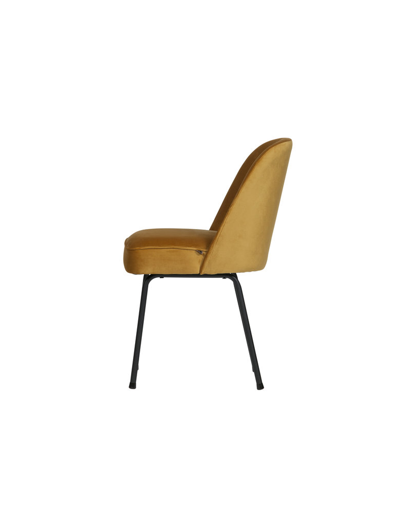 Eetkamerstoelen Fluweel Be Pure Home Be Pure Home Vogue Eetkamerstoel Fluweel Mosterd
