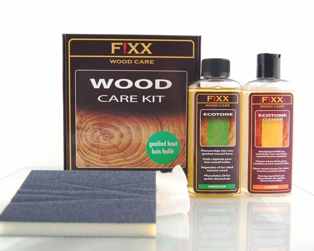 Ecotone Olie Wood Care Kit For Oiled Wood Greenfix Wood Care Kit