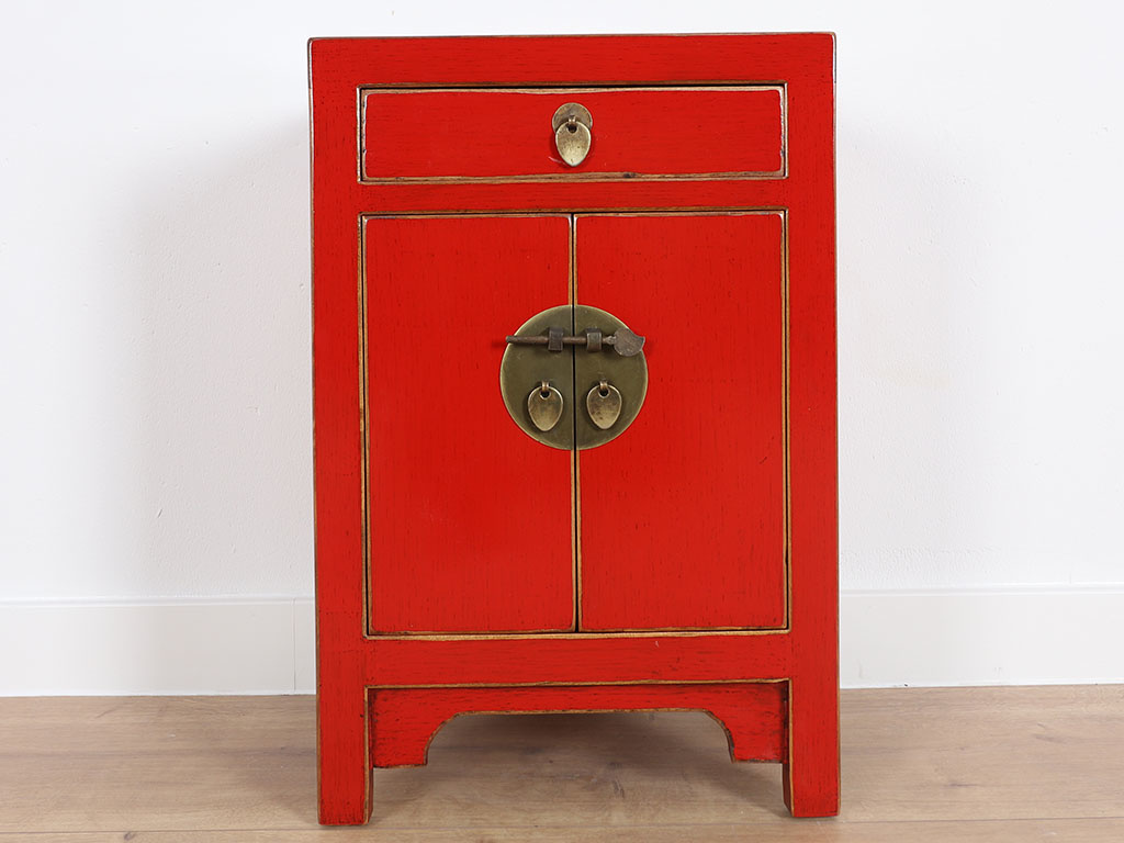 China Hochzeitsschrank Chinese Cabinet Chinese Bedside Cabinet Solid Wood China Red