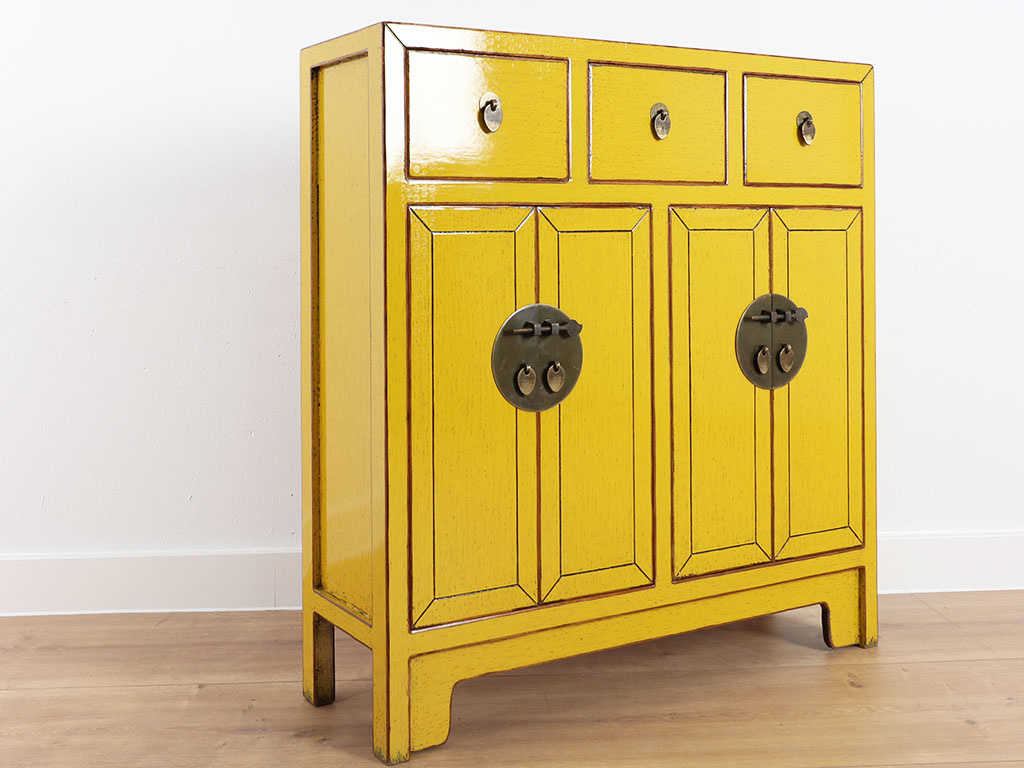 Chinese Dresser 25 Cm Deep Oriental Asian Style Yellow Yajutang Möbel Gmbh