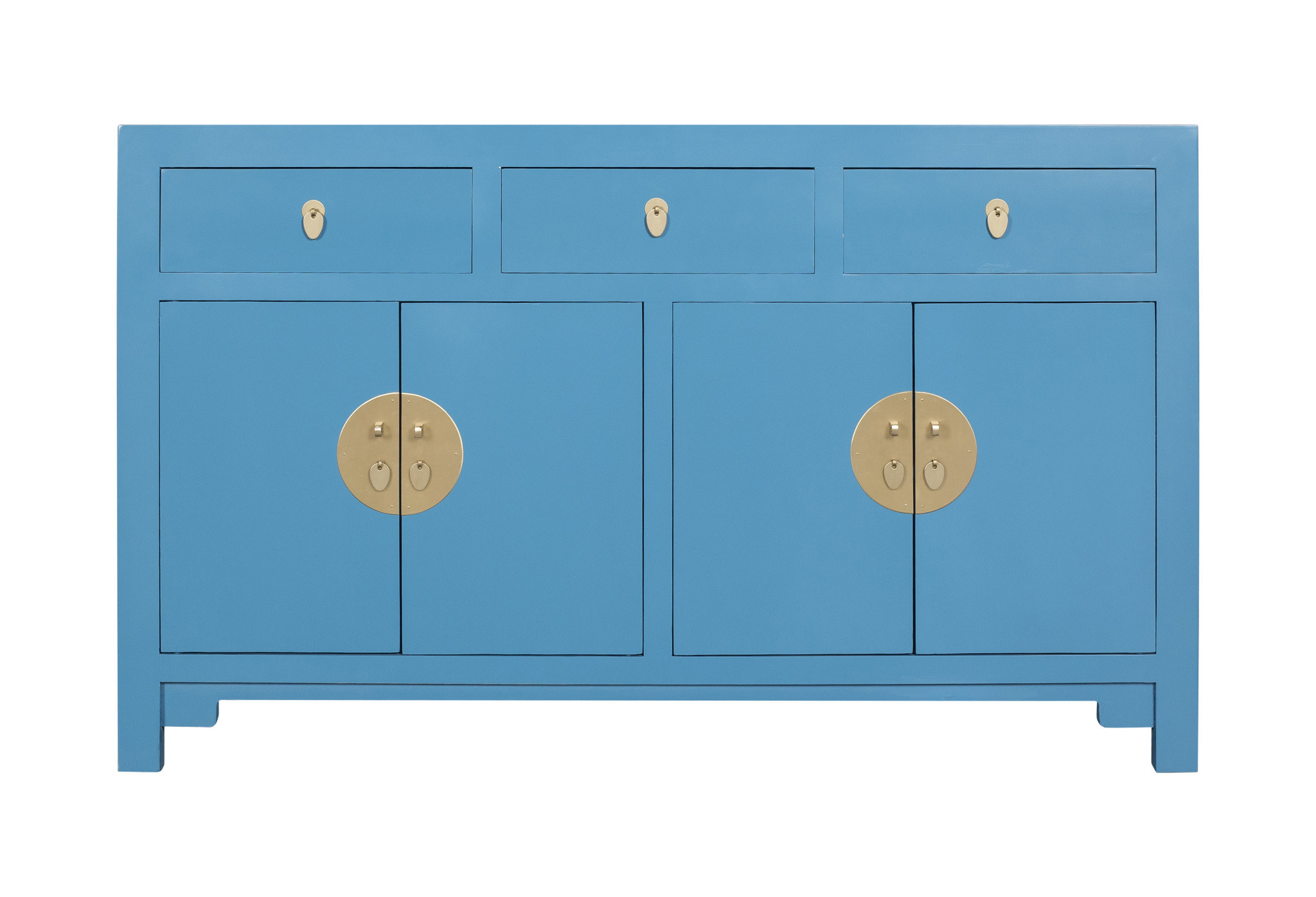 Chinese Sideboard Sapphire Blue Orientique Collection L140xw35xh85cm Orientique Asianliving
