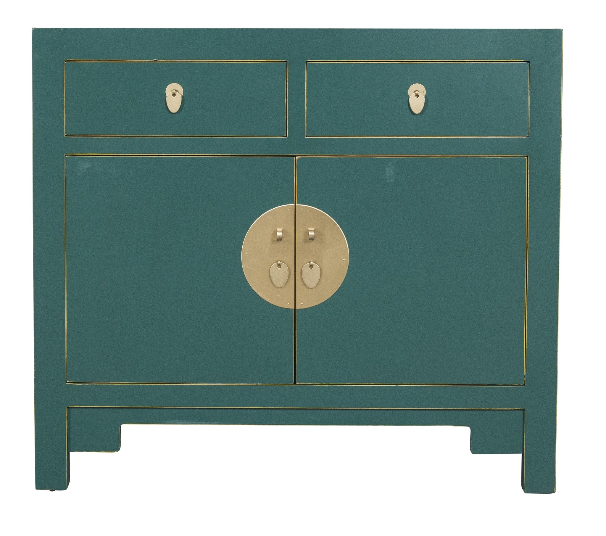 Chinese Cabinet Jade Teal Blue Orientique Collection L90xw40xh80cm Orientique Asianliving