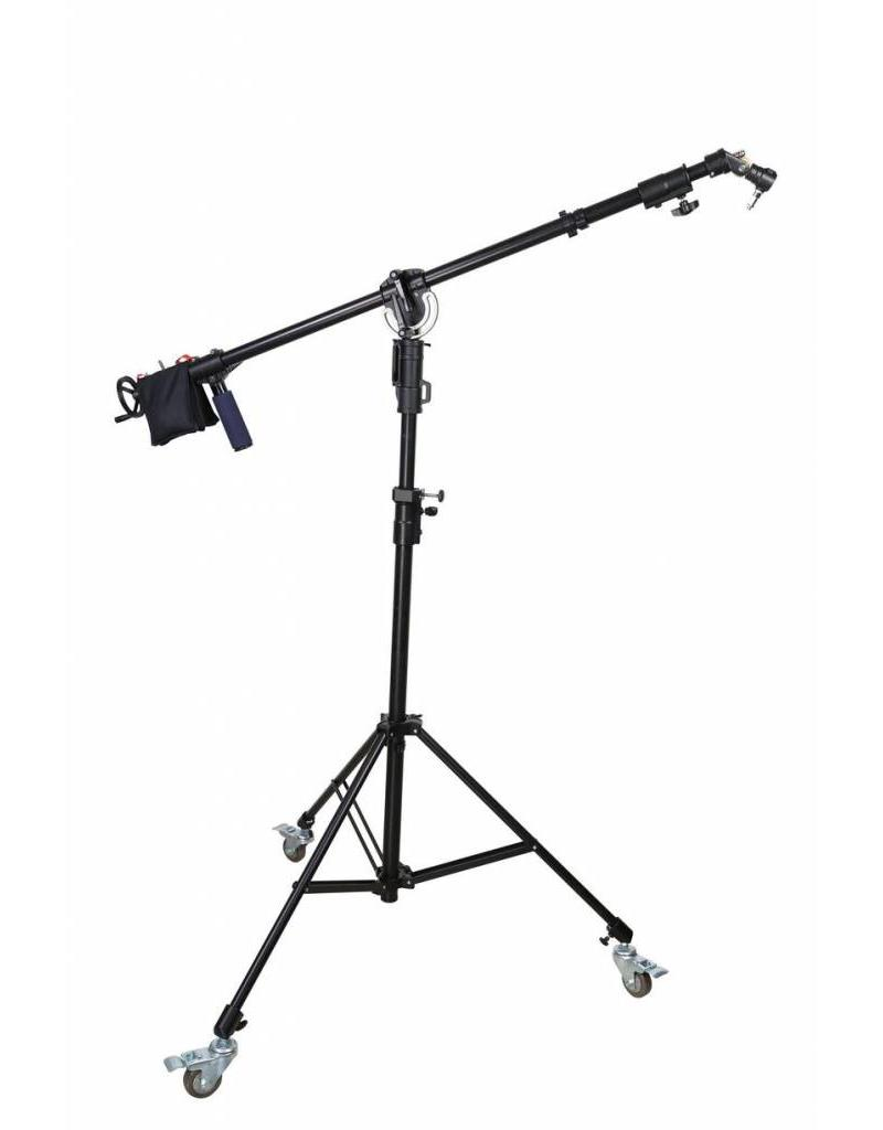 Boompje Met Led Verlichting Ledgo Heavy Duty Light Stand Met Boom Crank Dolly