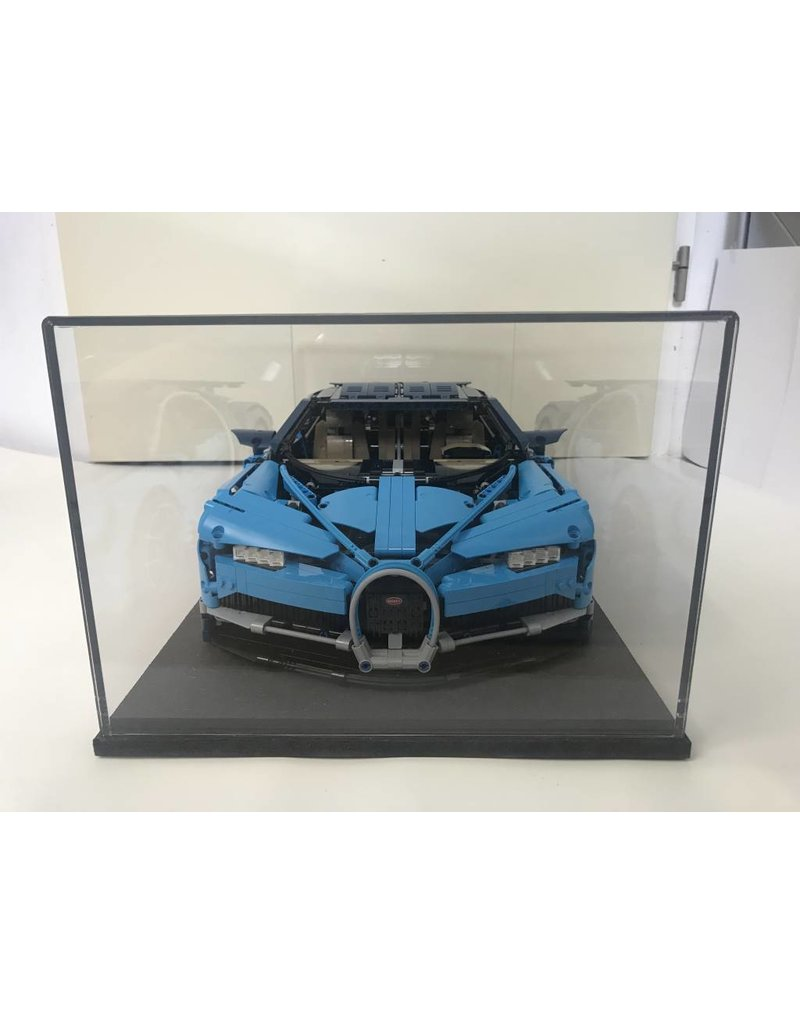Lego Vitrine Lakea Display Case For 1 8 Scale Model Lego Technic Bugatti Chiron 42083