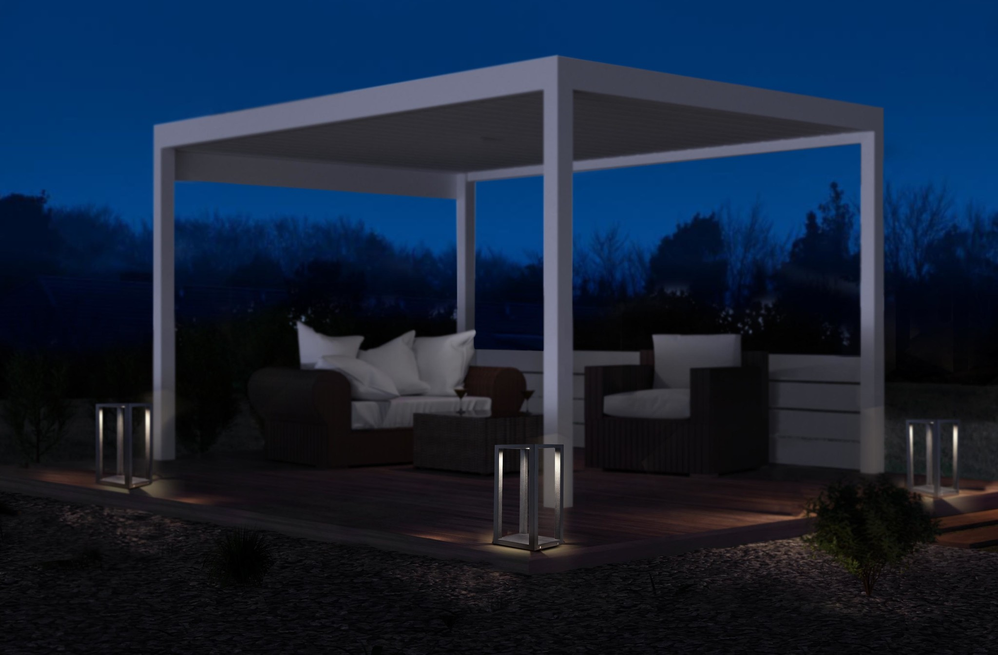 Led Verlichting Pergola Liolights Led Pedestal Lamp Outdoor Bl Kenton Zw