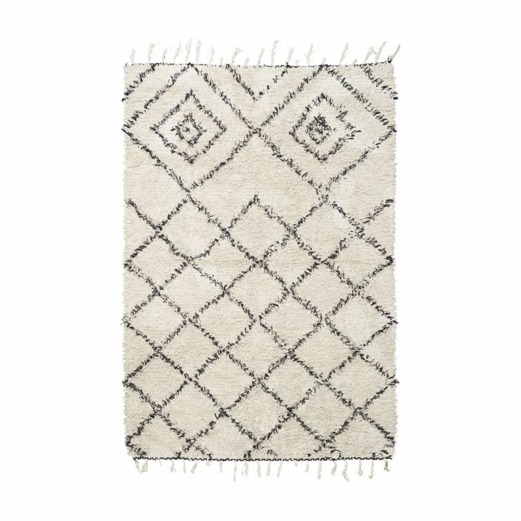 Teppich Baumwolle House Doctor Zena Rug 140x200 Cm Black White Cotton