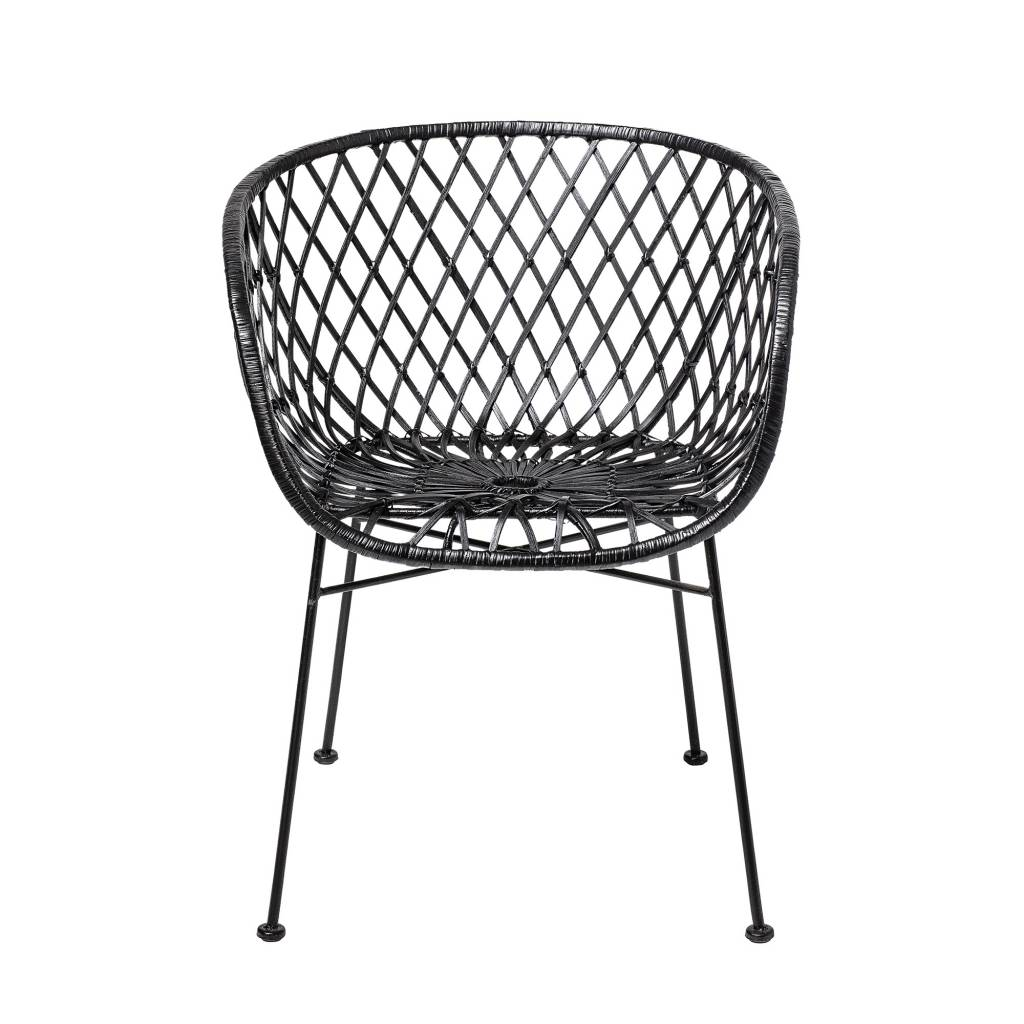 Lounge Sessel Rattan Bloomingville Lounge Chair Black Rattan