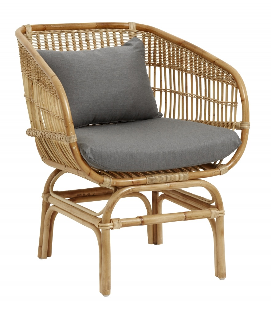 Rattansessel Dekorieren Nordal Rattan Armchair With Grey Cushion