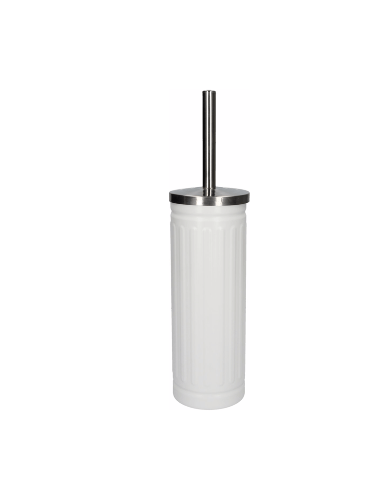 Wc Borstel Design Discountershop White Unbreakable Stainless Steel Toilet Brush Holder With Toilet Brush 45x12cm Matt White Durable Matte White Stainless Steel