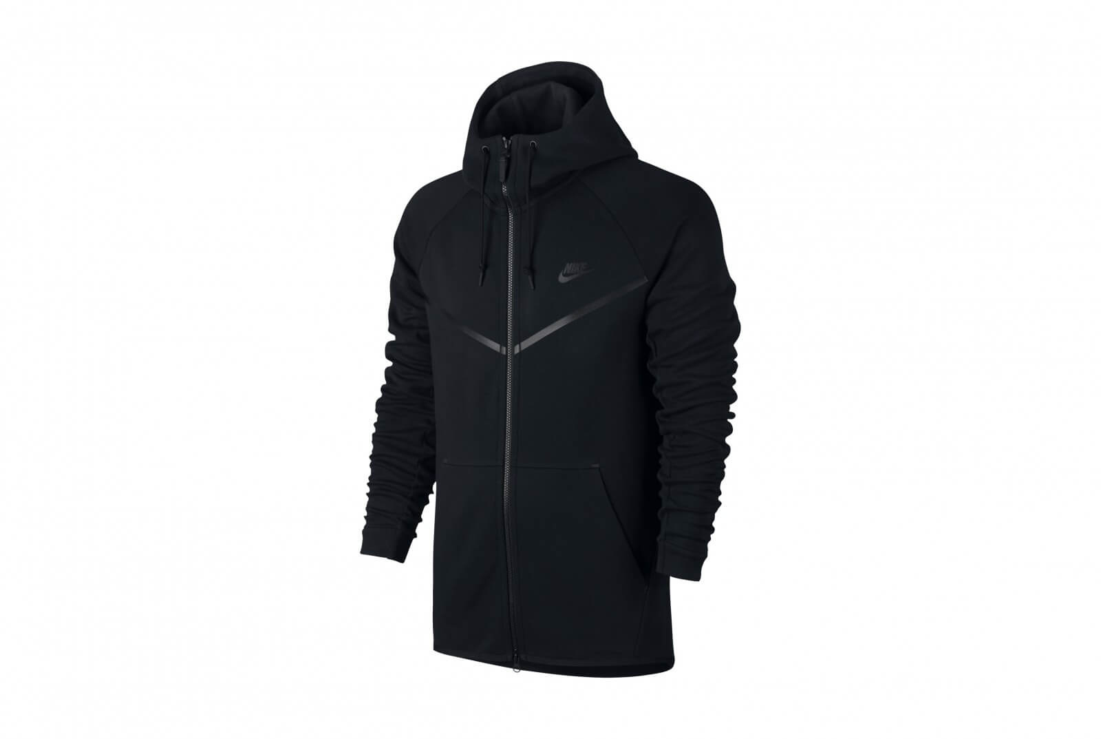 Nike Pulli Männer Nike Tech Fleece Windrunner Hoodie Schwarz Burned Sports