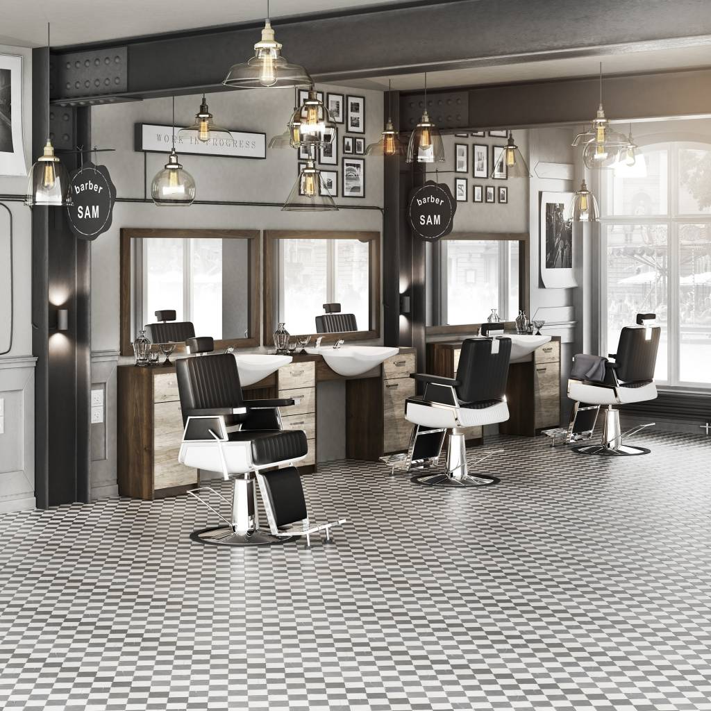 Interieur Groothandel Heren Kapsalon Set Barber Retro Heren Kappersstoel Heren Kaptafel