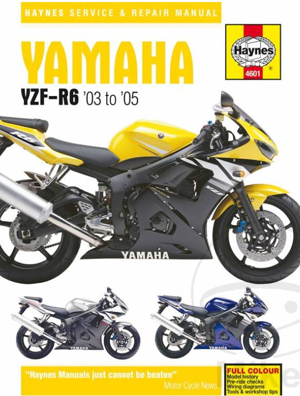 Repair Manual YAMAHA YZF600R R6 03-05 - CafeRacerWebshop