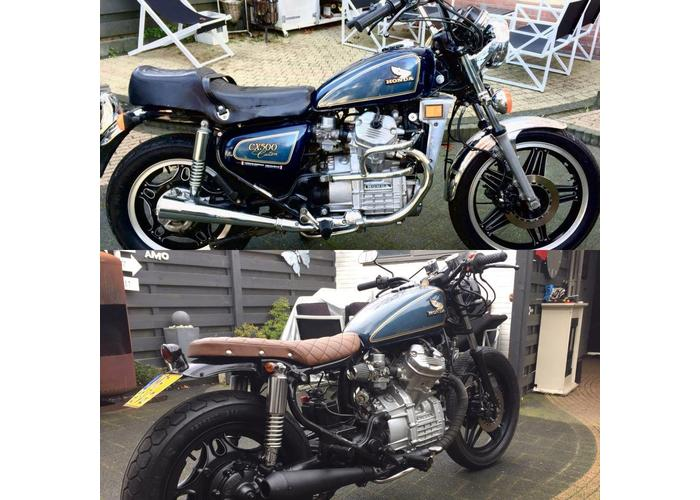 CRacer CX500 Seat Diamond Washed Brown 75 - CafeRacerWebshop
