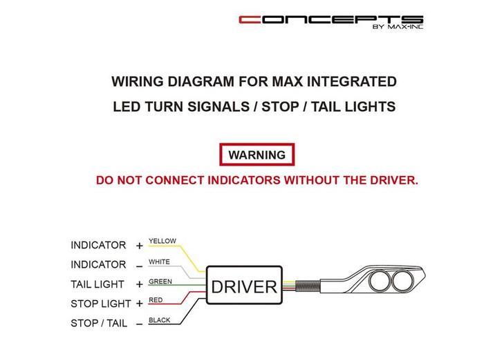 LED Tail Light / Indicator CNC Billet Aluminium Black