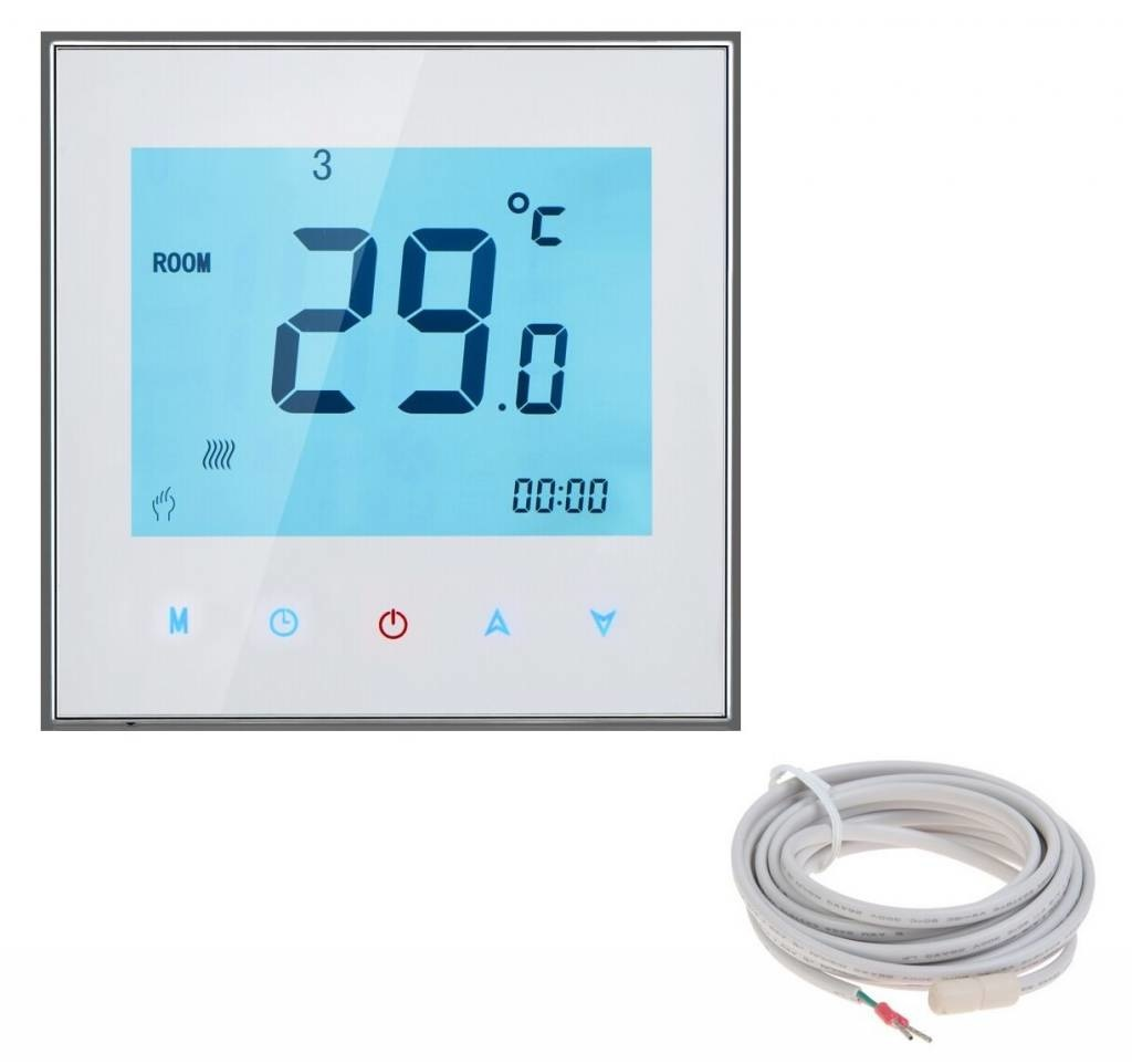 Thermostaat Elektrische Vloerverwarming Vervangen Quality Heating Complete 150 Watt Mat Set Inclusief 7 Daags Programmeerbare Thermostaat