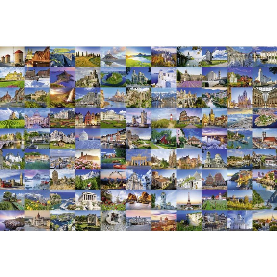Puzzel Online Ravensburger 99 Beautiful Places In Europe Puzzle Of 3000 Pieces