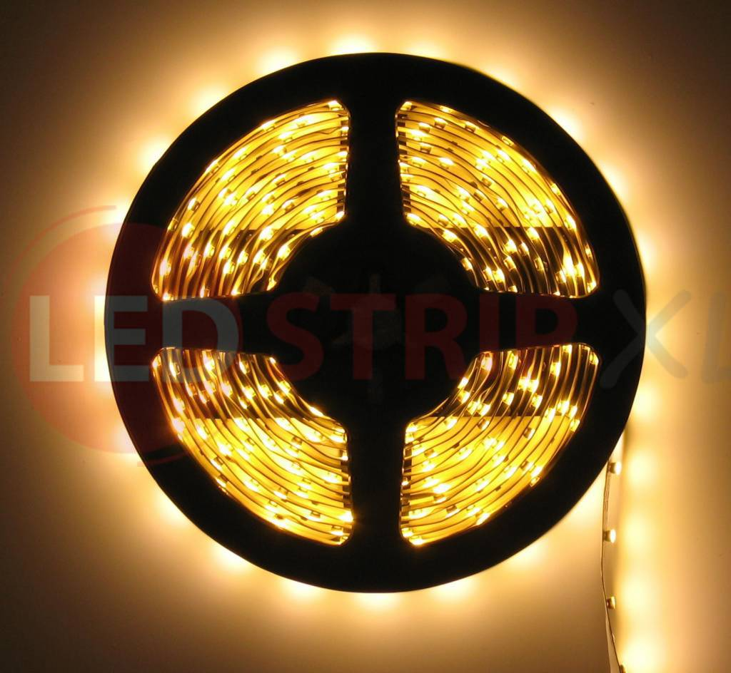 Led Slang Verlichting Warm Wit Ledstrip Warm Wit 5 Meter 60 Led Per Meter 12 Volt Basic