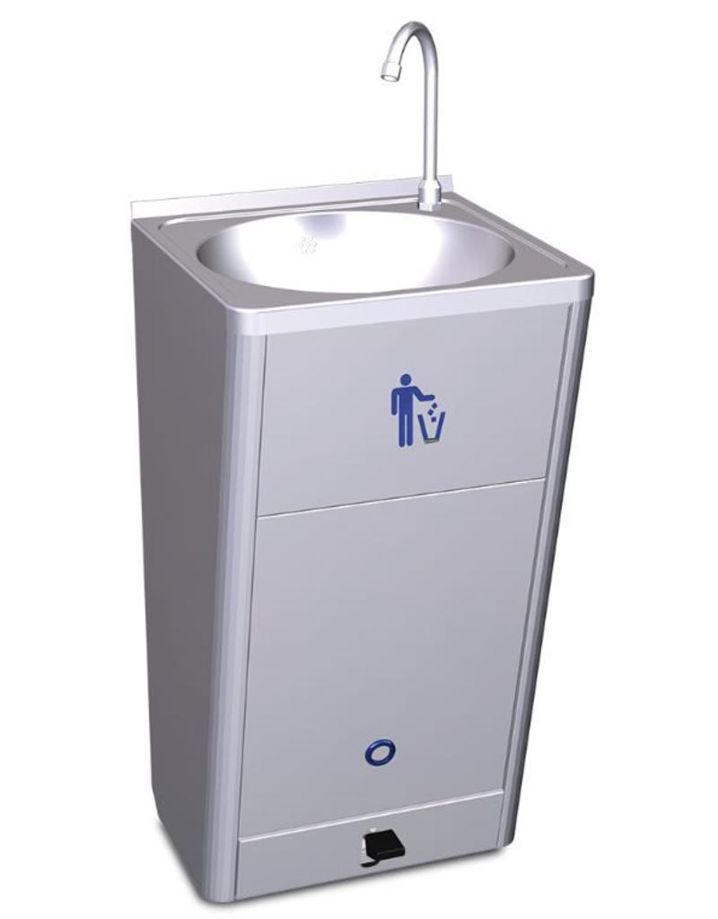 Metal Wash Bin Mobile And Autonomous Hand Wash Basin High Flow