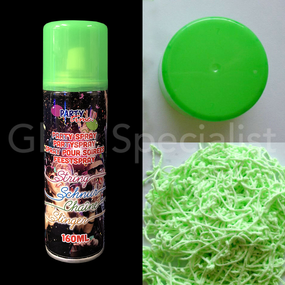 Oranje Spuitbus Neon Party Serpentine Spray Spuitbus 160 Ml 6 Kleuren